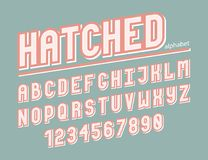 Modern line alphabet. Hipster abstract vector font Royalty Free Stock Image