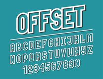 Modern line alphabet. Hipster abstract vector font Royalty Free Stock Photo