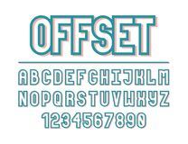 Modern line alphabet. Hipster abstract vector font Royalty Free Stock Photography
