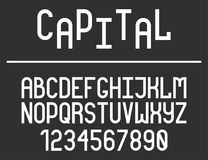 Modern line alphabet. Hipster abstract vector font Royalty Free Stock Images
