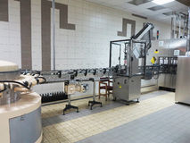 Modern line for bottling wine in vinery Royalty Free Stock Images