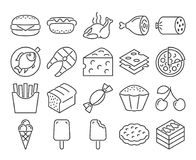 Food line icons set. Modern line style icons: Food Stock Photo