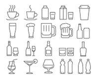 Drinks icons set Royalty Free Stock Photo