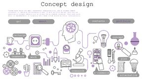 Modern line style illustration of business concept Stock Image