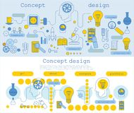 Modern line style illustration  of business for web banners, hero images, printed materials Stock Photography