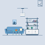 Modern line style living room Stock Photography