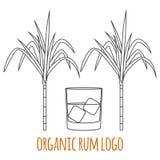 Modern line style logo, branding,  logotype,  badge  with sugar Stock Image