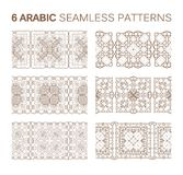 6 Modern line traditional arabic pattern. Background design. Ideal for wall decoration, printables and wrapping paper design stock illustration
