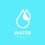Modern line vector logo of the water drop. Illustration in a minimalistic style Stock Images