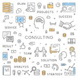 Modern line web concept for consulting Royalty Free Stock Image