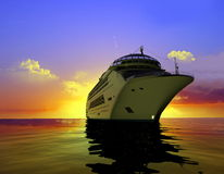 A modern liner Royalty Free Stock Photo