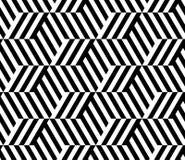 MODERN LINJÄR SÖMLÖS VEKTORMODELL FÖR GEOMERTIC RANDIG ROMB FÖR MONOKROM vektor för geometriska op rhombuses för modell för konst stock illustrationer