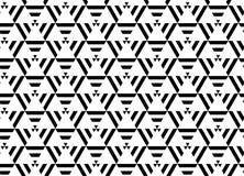 MODERN LINJÄR SÖMLÖS VEKTORMODELL FÖR GEOMERTIC RANDIG TRIANGEL FÖR MONOKROM I RENGÖRINGSDUK radioaktivt symbol stock illustrationer