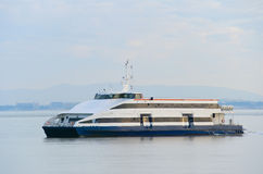 Modern Lisbon ferry boat, Portgual stock images