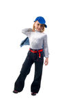 Modern Little Jeans Girl. Royalty Free Stock Image