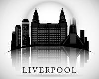 Modern Liverpool City Skyline Design. England. Modern Liverpool City Skyline Design stock illustration