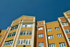 Modern living. Against the blue cloudless sky stock images
