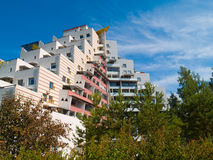 Modern living. A modern apartment building in Helsinki, Finland Royalty Free Stock Image