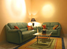 Modern Living. A modern living room with empty walls for general usage Royalty Free Stock Photo