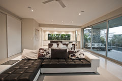 Modern living area Royalty Free Stock Images