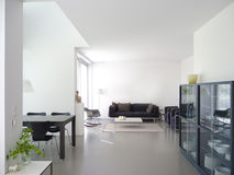 Modern living and dining room Stock Image