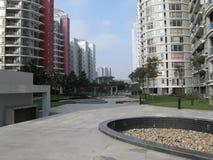Modern living environment. Some modern apartment blocks in China Stock Photos