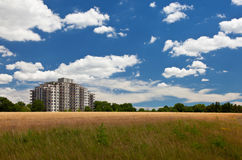 Modern living in harmony with nature environment landscape Royalty Free Stock Image