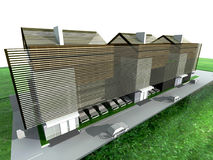 Modern living house. Render: the modern living house Royalty Free Stock Images
