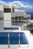 Modern living by the ocean royalty free stock image