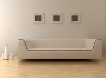 Modern living room. 3d rendering interior of a modern living room stock illustration