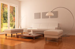 Modern living room Stock Photos