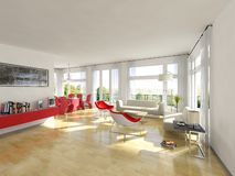 Modern living room Stock Images