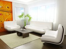 Modern living-room Stock Images