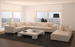 Modern living-room Royalty Free Stock Photos