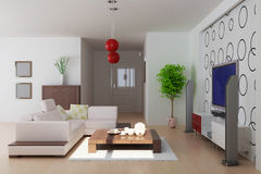 Modern living room Stock Photo