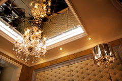 Modern living room. A modern livingroom.It is luxury Royalty Free Stock Photo