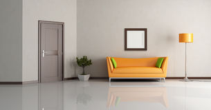 Modern living room royalty free illustration