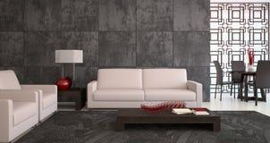 Modern living-room. Interior. 3d render Stock Photo