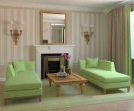 Modern living-room. Royalty Free Stock Photos