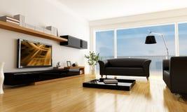 Modern living room royalty free illustration