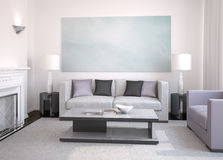 Modern living-room. Stock Photos