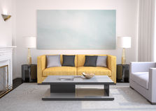 Modern living-room. Royalty Free Stock Photo