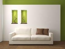 Modern living-room. Modern living-room interior. 3d render Stock Images
