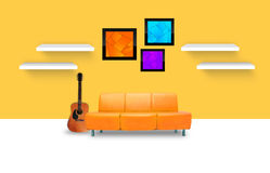 Modern living room. Interior with furniture Royalty Free Stock Photos
