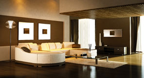 Modern living room Royalty Free Stock Image