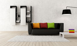 Modern living room Royalty Free Stock Photo