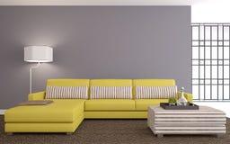 Modern living-room royaltyfri illustrationer