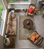 Modern living room. View from above Stock Image