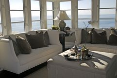 Modern Living Room. A modern living room on the coast of California Stock Image