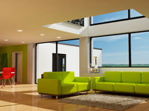 A modern living room. An image of a modern living room Stock Photos